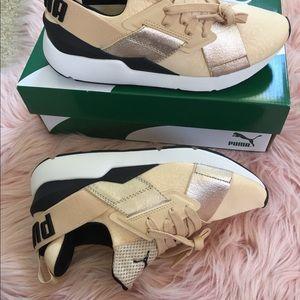Puma Shoes - New Puma Women's Muse Metallic Sneakers
